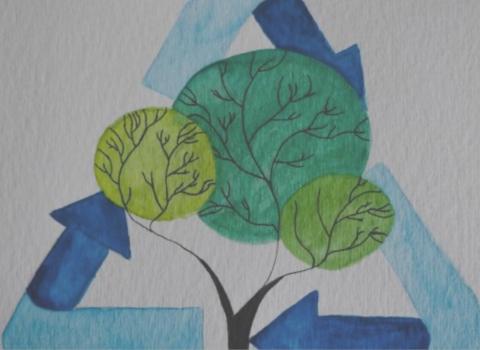 Instagram-Account @trees_against_littering   Müll ist für die Tonne und nicht für den Wald